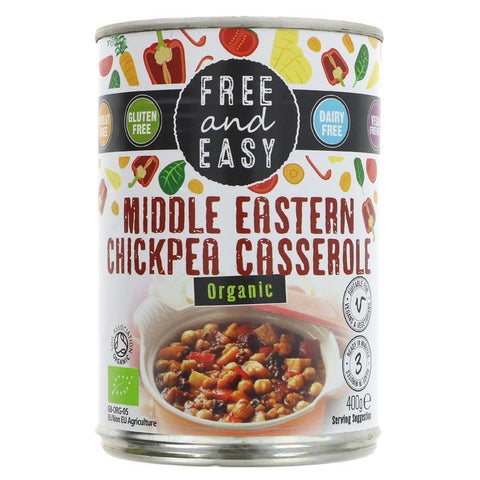 Free & Easy | Middle Eastern Casserole | 1 X 400g. This Product Is :- Vegan,organic