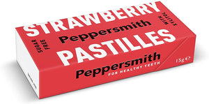 Peppersmith | Strawberry Xylitol Pastilles | 1 X 15g. Sold By Superfood Market