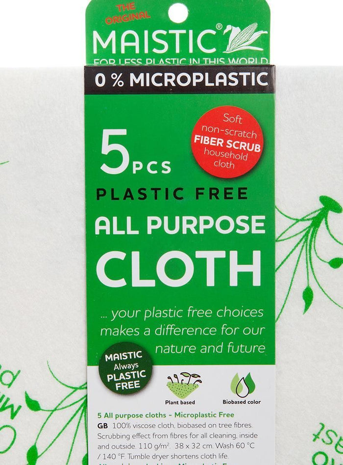 Maistic | All Purpose Cloths - 5 Units | 1 x 5 Cloth