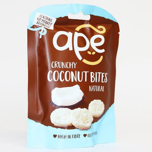 Ape Snacks | Crunchy Coconut Bites Natural | 1 X 30g. This Product Is :- Vegan