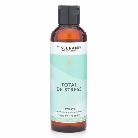 Tisserand | Total De-stress Bath Oil | 1 X 200ml. Sold By Superfood Market