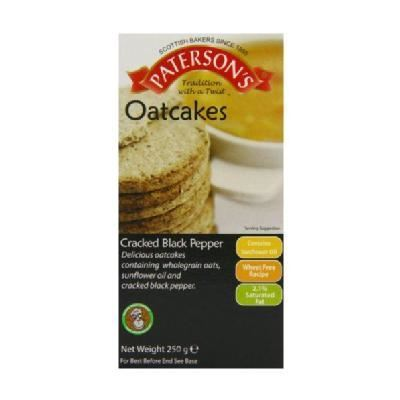 Patersons | Cracked Black Pepper Oatcakes | 1 x 250g