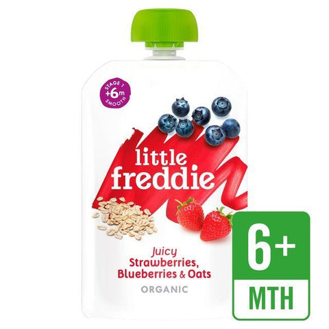 Little Freddie | Strawberries Blueberries & Oats | 1 x 100g