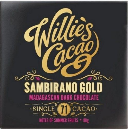 Willies Cacao | Sambirano Gold Madagascan 71% Dark Chocolate | 1 x 80g