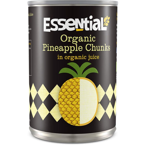 Essential Trading | Pineapple Chunks In Org Juice | 1 X 400g. This Product Is :- Vegan,organic