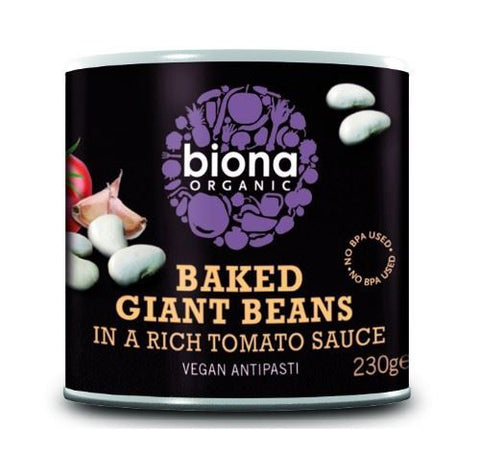 Biona | Baked Giant Beans In Tomato Sauce - Organic | 1 x 230g