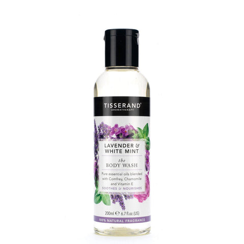 Tisserand | Lavender & White Mint Body Wash | 1 X 200ml. Sold By Superfood Market