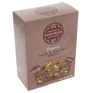 Honeyrose | Date & Walnut Toast | 1 x 110g | Honeyrose