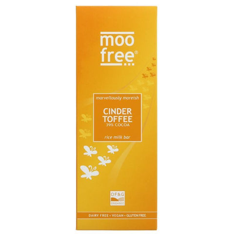 Moo Free | Cinder Toffee Bar | 1 X 80g. This Product Is :- Gluten Free,vegan,organic