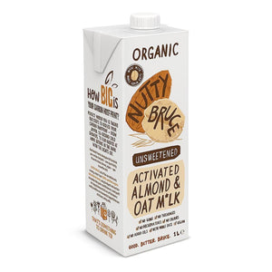 Nutty Bruce | 0rganic Unsweetened Oat M*lk | 1 x 1Ltr. Sold By Superfood Market