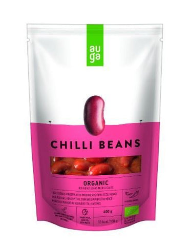 Auga | Organic Red Beans In Spicy Sauce | 1 x 400g