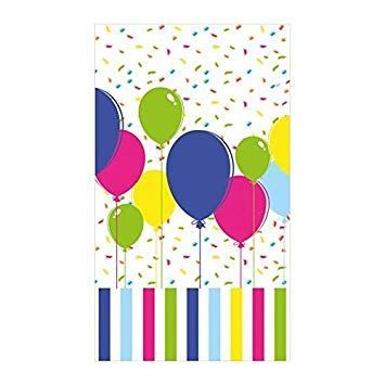 Duni | 120x180cm Balloons & Confetti Table Cover | 1 x Single