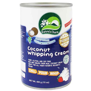 Nature's Charm | Coconut Whipping Cream | 1 X 400g. This Product Is :- Vegan