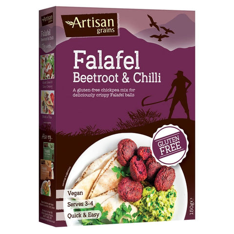 Artisan Grains | Falafel - Beetroot & Chilli | 1 X 150g. This Product Is :- Gluten Free,vegan