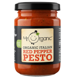 Mr Organic | Red Pepper Pesto (vegan) | 1 X 130g. This Product Is :- Vegan,organic