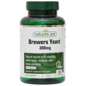 Natures Aid | Brewers Yeast 300mg Tablets | 1 x 500s | Natures Aid