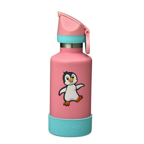 Cheeki | 400ml Insulated Kids Bottle Penguin | 1 X 400ml. Sold By Superfood Market