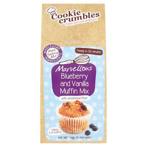 Cookie Crumbles | Blueberry & Vanilla Muffin Mix | 1 x 220g