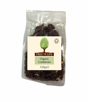 Tree Of Life | Organic Cranberries | 1 x 125g