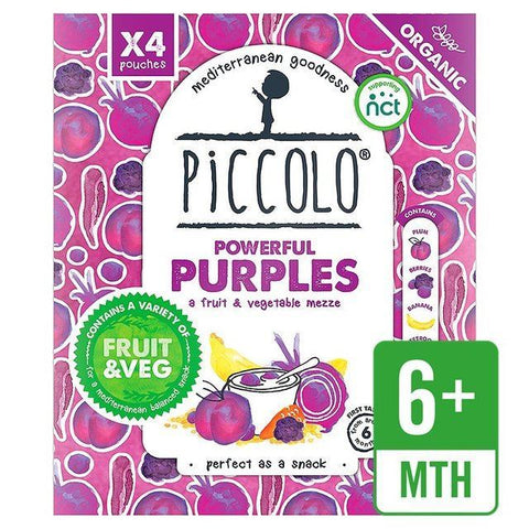 Piccolo Foods Ltd A | Piccolo  Powerful Purples - Multipack | 1 x (90gx4)