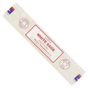 Siesta Crafts | Satya Sai White Sage Incense | 1 X 15g. This Product Is :- Vegan,fairtrade