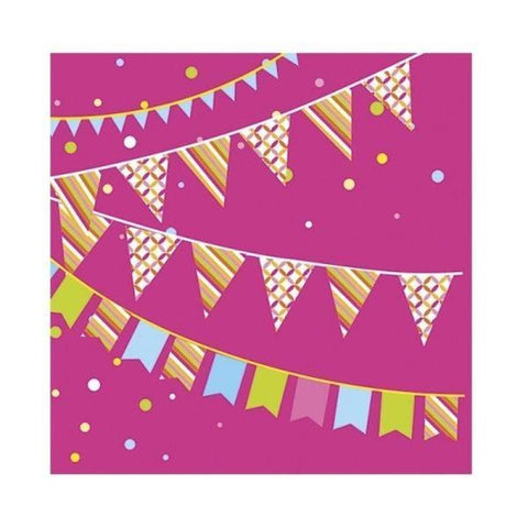 Duni | 33cm 3ply Party Time Napkins | 1 x 20s