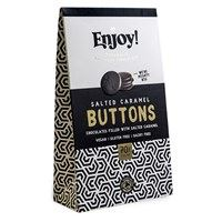 Enjoy Raw Chocolate Limited | Enjoy Raw Choc  Salted Caramel Filled Chocolate Buttons | 1 X 96g. Sold By Superfood Market