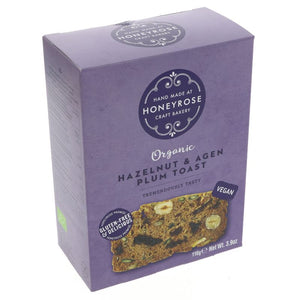 Honeyrose | Hazelnut & Agen Plum Toast | 1 x 110g | Honeyrose