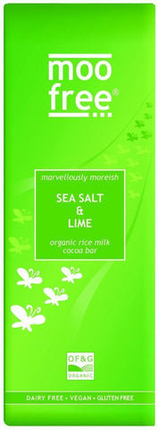 Moo Free | Sea Salt & Lime Bar | 1 X 80g. This Product Is :- Gluten Free,organic,fairtrade