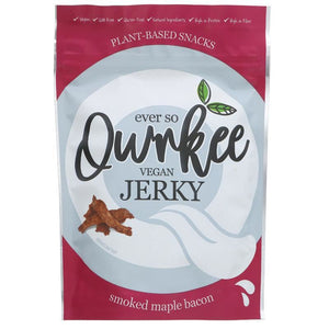 Qwrkee | Maple Bacon Jerky | 1 X 70g. This Product Is :- Gluten Free,vegan