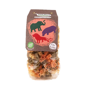 Little Pasta Organics | Animal Pasta Shapes - Tricolor | 1 x 250g | Little Pasta Organics