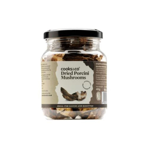 Cooks & Co | Dried Porcini Mushrooms | 1 X 40g. Sold By Superfood Market