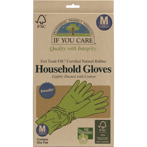 If You Care | Latex House Gloves - Medium | 1 x Med