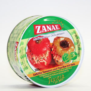 Zanae | Stuffed Peppers -tomato & Rice | 1 X 280g. Sold By Superfood Market