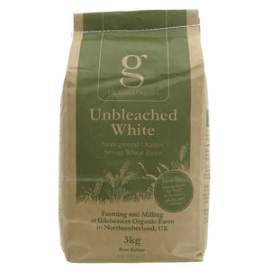 Gilchesters Organics | White Flour Strong Unbleached | 1 x 3kg | Gilchesters Organics