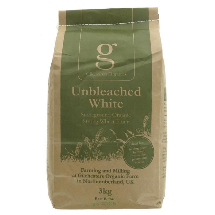 Gilchesters Organics | White Flour Strong Unbleached | 1 x 3kg