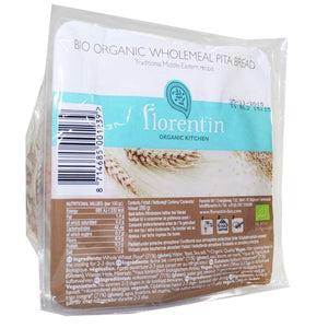 Florentin | Pitta Bread - Wholemeal | 1 X 280g. This Product Is :- Vegan,organic