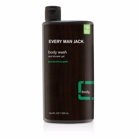 Every Man Jack | Body Wash - Eucalyptus Mint | 1 X 500ml. Sold By Superfood Market