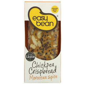 Easy Bean | Chickpea Crispbread - Moroccan | 1 x 110g | Easy Bean