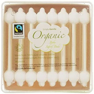Simply Gentle | Organic Fairtrade Cotton Safety Buds | 1 X 56. Sold By Superfood Market