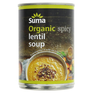 Suma | Spicy Lentil Soup | 1 X 400g. This Product Is :- Vegan,organic