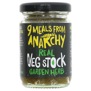 Nine Meals From Anarchy | Real Veg Stock - Garden Herb | 1 X 105g. This Product Is :- Vegan,organic