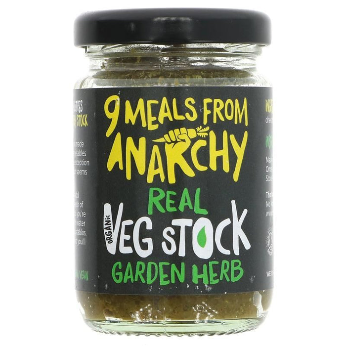 Nine Meals From Anarchy | Real Veg Stock - Garden Herb | 1 x 105g