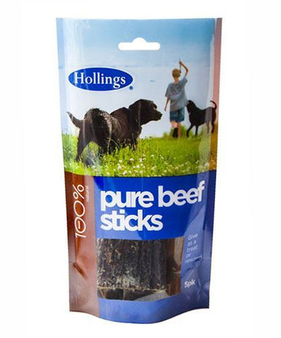 Hollings | Beef Sticks For Dogs | 1 x 5 Pack