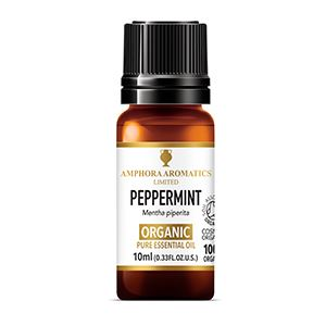 Amphora Aromatics | Peppermint Organic Essential Oil | 1 X 10ml. Sold By Superfood Market