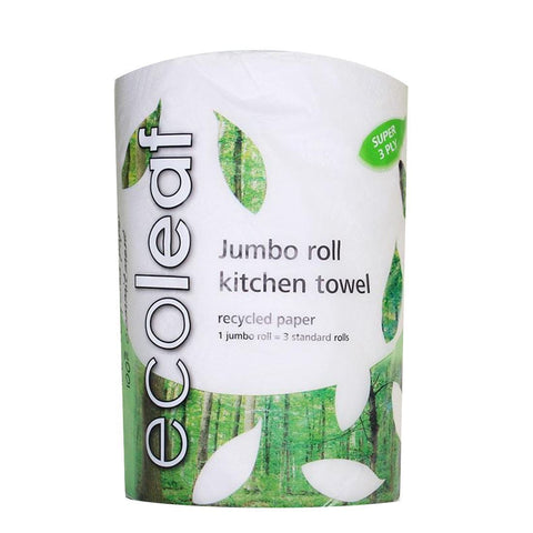 Ecoleaf By Suma | Ecoleaf Jumbo Kitchen Towel | 1 X 1 Rolls. This Product Is :- Vegan