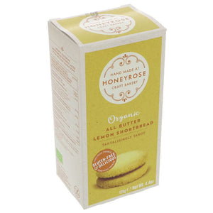 Honeyrose | All Butter Lemon Shortbread | 1 x 125g | Honeyrose