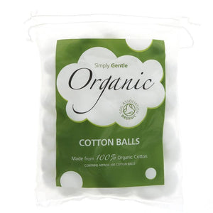 Simply Gentle | Organic Cotton Wool Balls | 1 X 100. This Product Is :- Organic