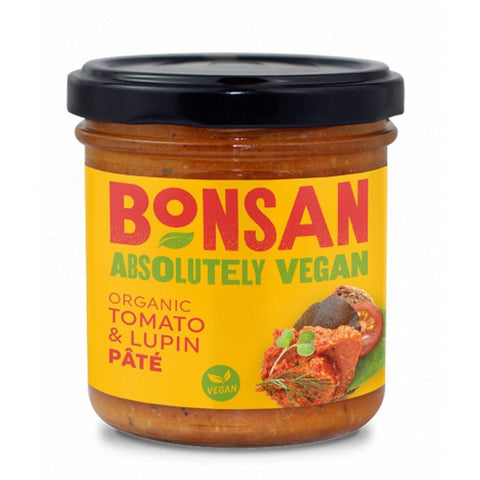 Bonsan | Organic Vegan Tomato Lupin Pate | 1 X 140g. Sold By Superfood Market