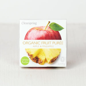 Clearspring | Apple & Pineapple Fruit Puree | 1 x 100g x 2 | Clearspring